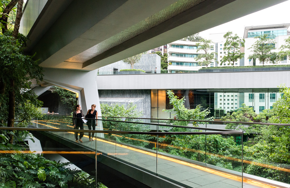 Footbridge connecting the Pavilion and Former Laboratory at Asia Society Hong Kong Center
