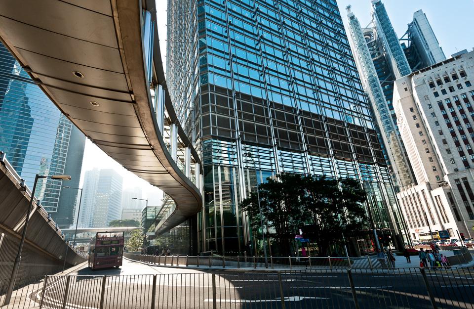 Cheung Kong Centre - under the footbridge
