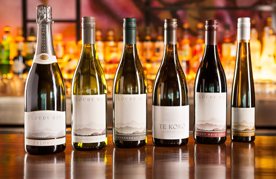 Cloudy Bay wines photographed by Imagennix commercial photographer Scott Brooks for Nobu Hong Kong