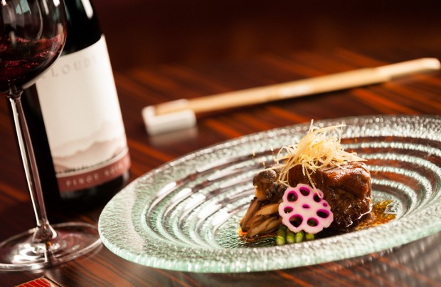 Braised pork belly photographed by Imagennix commercial photographer Scott Brooks for Nobu Hong Kong