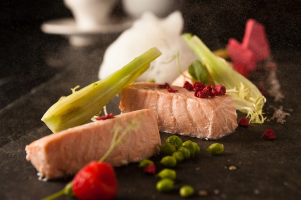 Poached Salmon deconstructed