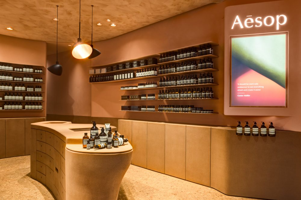 Aesop IFC right wall